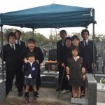 名張市東山墓園にて 納骨祭
