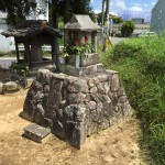 名張市西原で地蔵像工事しました(16.3.3)