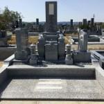 名張市東山墓園でお墓の工事をしました(16.4.15)