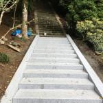 奈良県菟田野の惣社水分神社の工事進行です(16.6.19)
