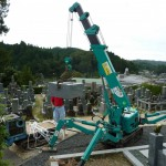 信楽町多羅尾 浄顕寺様にて 大島石の墓石を建立しました。