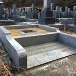名張市東山墓園にてお墓の工事をしました(17.1.17)