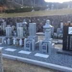 伊賀市長田の西蓮寺墓地にて、五輪塔とお墓を建立しました。 (愛媛県産・大島石)