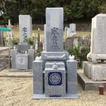 名張市大屋戸にてお墓の工事をしました(17.3.24)