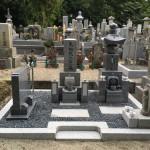名張市東田原の長楽寺にてお墓が完成しました(17.7.14)