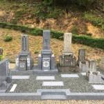 京都府南山城村南大河原で墓地改修と新しいお墓の建立工事を行いました。(17.10.16)