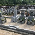伊賀市長田 西蓮寺墓地にてお墓の建立工事と巻石の修理工事をしました。(30.7.9)