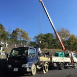 名張市の下比奈知墓地にて、基礎工事をしました