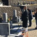 名張市下比奈知 墓地にて 開眼法要