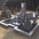 伊賀市長田 西蓮寺にてお墓の工事をしました