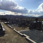名張市赤目の墓地で、塔婆立ての工事しました。