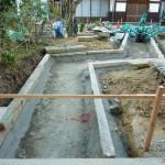 奈良・生駒のお寺で伝い石工事してます。