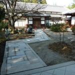 奈良・生駒のお寺で伝い石工事・完成!