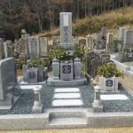 名張市結馬墓地にて、お墓点検