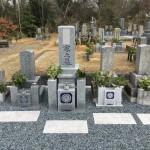 名張市下小波田墓地にて、お墓の点検をしました