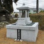 名張市西原にて地蔵塔完成(16.3.7)