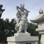 名張市・長楽寺様にて、仁王像建立