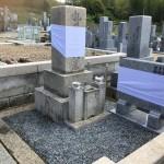 天理市山の辺霊園にて、お墓クリーニング完成(16.4.12)
