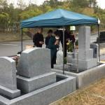 名張市東山墓園にて開眼法要(16.4.21)