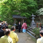 奈良県菟田野の惣社水分神社にて地鎮祭(16.5.8)