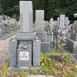 奈良県御杖村の霊園にてお墓じまいの工事(16.8.1)