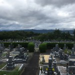 名張市東山墓園にて霊標の文字彫り入れのご依頼(16.9.21)