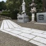 名張市東田原のお寺で張石工事をしました(16.10.11)