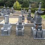滋賀県甲賀市のお寺でお墓の工事をしました(16.11.14)