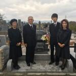名張市東山墓園にて開眼法要(16.11.19)