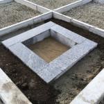 津市白山町にて石碑の移設工事(16.12.21)
