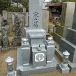 伊賀市島ケ原の正月堂で、大島石のお墓を建てました。