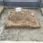 名張市東山墓園にて基礎工事をしました(17.4.25)