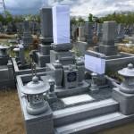 名張市東山墓園にてお墓が完成しました(17.5.10)