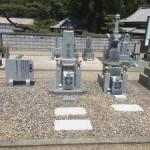 伊賀市瀧・滝仙寺様墓地にて墓石建立工事をしました。(2017.4.18)
