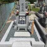 伊賀市 岩倉墓地にて墓石建立工事を行いました。