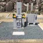 伊賀市西蓮寺様にてお墓の建立工事を行いました。