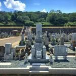 伊賀市 西蓮寺様墓地にて墓石工事の完成です。