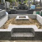 名張市東山墓園でお墓の工事をしました(17.7.24)