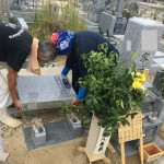 伊賀市上川原墓地にて霊標の追加彫刻をしました