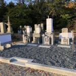 名張市下小波田墓地にてお墓が完成しました(17.11.10)