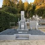 名張市東田原の長楽寺にてお墓が完成しました(17.11.11)