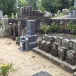 伊賀市島ケ原の墓地にて、墓地改修と新しくお墓を建立しました。(17.10.20)