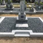 伊賀市長田 西蓮寺墓地にて巻石とお墓の建立工事をしました。(30.7.10)