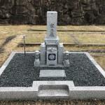 伊賀市長田 西蓮寺墓地にて巻石とお墓の建立工事をしました。(30.6.19)