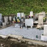 奈良県御杖村の安能寺様で墓地の防草工事をしました。(18.7.25)