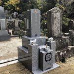 伊賀市上林の墓地にてお墓の工事をしました
