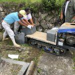 名張市大屋戸の墓地にて古いご夫婦のお墓の撤去工事(お墓じまい)をしました