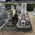 津市の存仁寺様の墓地でお墓のリフォーム工事(納骨のための骨穴加工・花立て加工によるステンレス花筒・新しいお線香立て)をしました