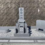 兵庫県たつの市の霊園でお墓を建てました。香川県産庵治石細目を使用した芝台付きの神戸型のお墓です。 (伊賀・名張のお墓づくりをしています。石の中原です)