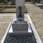 伊賀市富永の新大仏寺様で個別永代供養墓の工事をしました。(お一人やご夫婦で個別にご利用頂ける永代供養塔です)